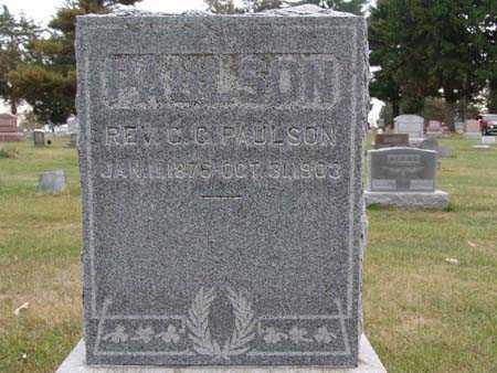 PAULSON, REV. C.C. - Warren County, Iowa | REV. C.C. PAULSON