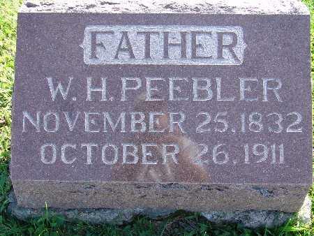 PEEBLER, W. H. - Warren County, Iowa   W. H. PEEBLER