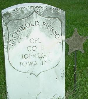 PIERSON, ARCHIBALD - Warren County, Iowa   ARCHIBALD PIERSON