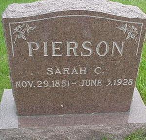 PIERSON, SARAH C. - Warren County, Iowa   SARAH C. PIERSON