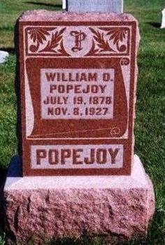 POPEJOY, WILLIAM O. - Warren County, Iowa | WILLIAM O. POPEJOY