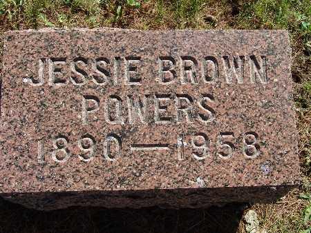 POWERS, JESSIE BROWN - Warren County, Iowa | JESSIE BROWN POWERS