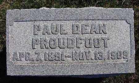 PROUDFOOT, PAUL DEAN - Warren County, Iowa   PAUL DEAN PROUDFOOT
