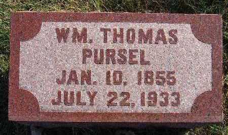 PURSEL, WM. THOMAS - Warren County, Iowa | WM. THOMAS PURSEL