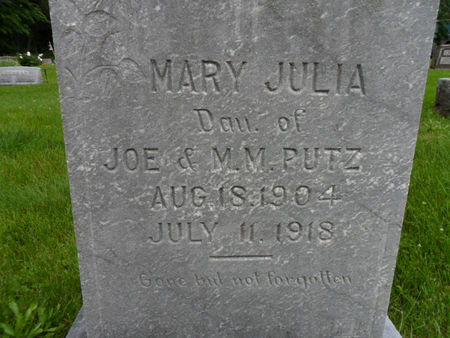 PUTZ, MARY JULIA - Warren County, Iowa | MARY JULIA PUTZ