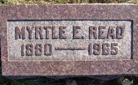 READ, MYRTLE E. - Warren County, Iowa | MYRTLE E. READ