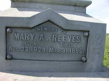 REEVES, MARY A. - Warren County, Iowa | MARY A. REEVES