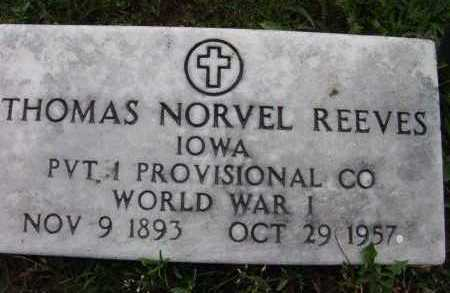 REEVES, THOMAS NORVEL - Warren County, Iowa | THOMAS NORVEL REEVES