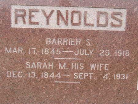 REYNOLDS, BARRIER S - Warren County, Iowa | BARRIER S REYNOLDS