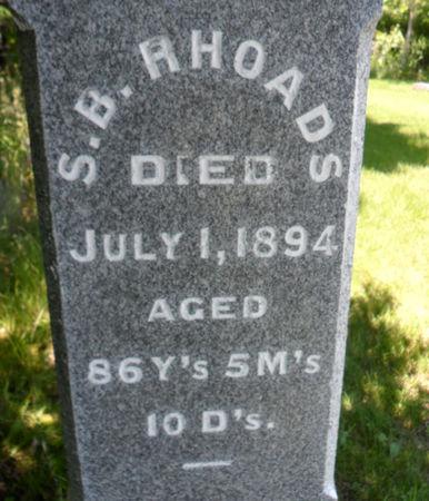 RHOADS, SAMUEL B. - Warren County, Iowa | SAMUEL B. RHOADS