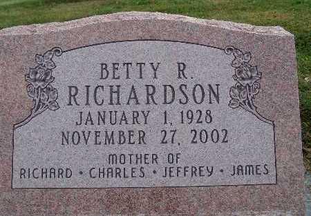 RICHARDSON, BETTY R. - Warren County, Iowa | BETTY R. RICHARDSON