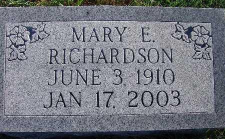 RICHARDSON, MARY E. - Warren County, Iowa | MARY E. RICHARDSON