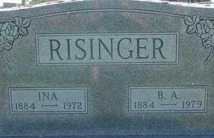 RISINGER, B. A. - Warren County, Iowa | B. A. RISINGER