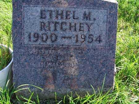 RITCHEY, ETHEL M - Warren County, Iowa   ETHEL M RITCHEY
