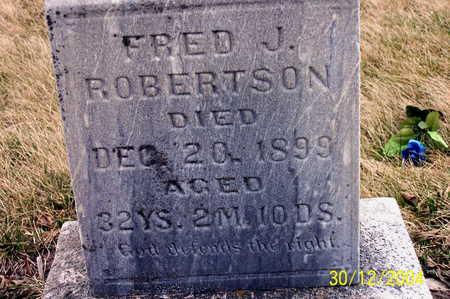 ROBERTSON, FRED J. - Warren County, Iowa | FRED J. ROBERTSON