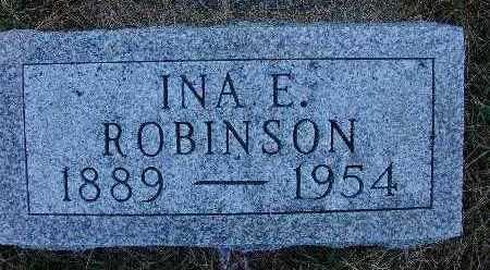 ROBINSON, INA E. - Warren County, Iowa   INA E. ROBINSON