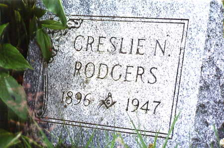 RODGERS, CRESLIE N. - Warren County, Iowa | CRESLIE N. RODGERS