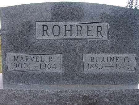 ROHRER, BLAINE C. - Warren County, Iowa   BLAINE C. ROHRER