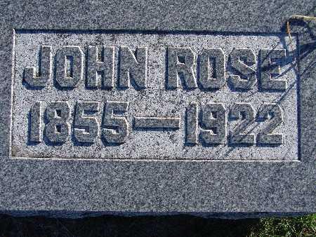 ROSE, JOHN - Warren County, Iowa | JOHN ROSE