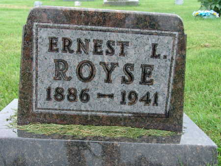 ROYSE, ERNEST L - Warren County, Iowa | ERNEST L ROYSE