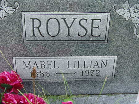 ROYSE, MABEL LILLIAN - Warren County, Iowa | MABEL LILLIAN ROYSE