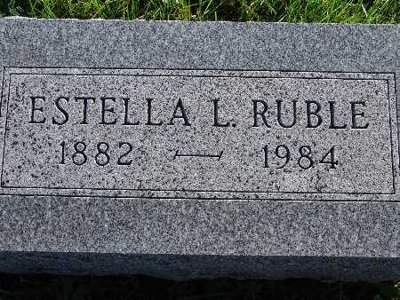 RUBLE, ESTELLA L. - Warren County, Iowa | ESTELLA L. RUBLE