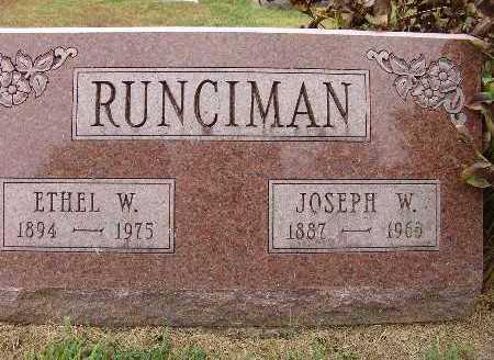 RUNCIMAN, ETHEL W. - Warren County, Iowa | ETHEL W. RUNCIMAN