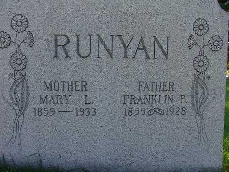 RUNYAN, MARY L. - Warren County, Iowa | MARY L. RUNYAN