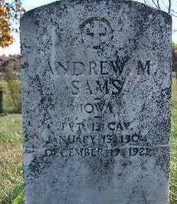 SAMS, ANDREW M. - Warren County, Iowa   ANDREW M. SAMS