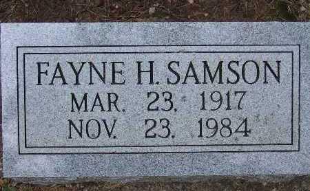 SAMSON, FAYNE H. - Warren County, Iowa | FAYNE H. SAMSON