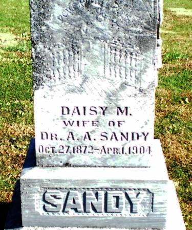 SANDY, DAISY M. - Warren County, Iowa   DAISY M. SANDY