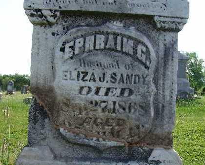 SANDY, EPHRAIM G. - Warren County, Iowa | EPHRAIM G. SANDY