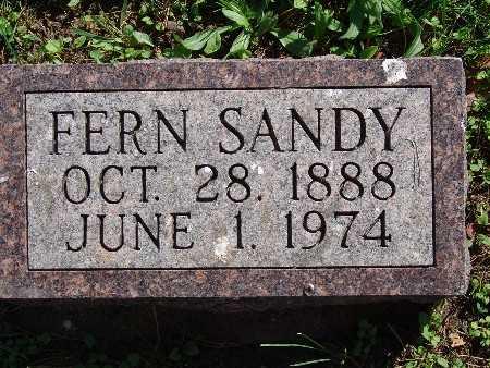 SANDY, FERN - Warren County, Iowa   FERN SANDY