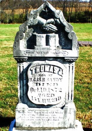 SANDY, THOMAS J. - Warren County, Iowa   THOMAS J. SANDY
