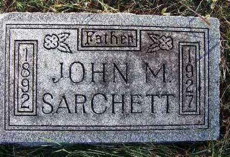 SARCHETT, JOHN M. - Warren County, Iowa | JOHN M. SARCHETT