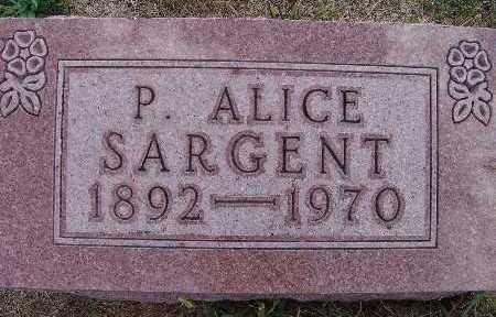 SARGENT, P. ALICE - Warren County, Iowa | P. ALICE SARGENT