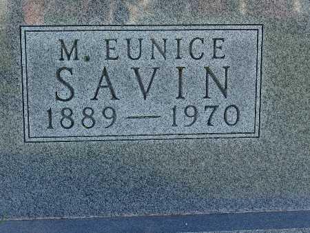 SAVIN, M. EUNICE - Warren County, Iowa | M. EUNICE SAVIN