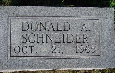 SCHNEIDER, DONALD A. - Warren County, Iowa | DONALD A. SCHNEIDER