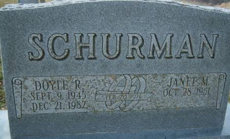 SCHURMAN, DOYLE R. - Warren County, Iowa | DOYLE R. SCHURMAN