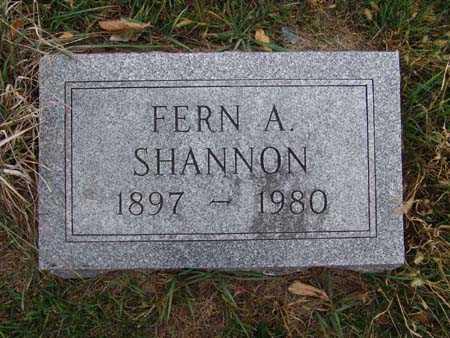SHANNON, FERN A. - Warren County, Iowa | FERN A. SHANNON