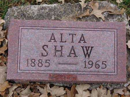 SHAW, ALTA - Warren County, Iowa | ALTA SHAW