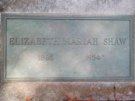 PROUDFOOT SHAW, ELIZABETH MARIAH - Warren County, Iowa | ELIZABETH MARIAH PROUDFOOT SHAW
