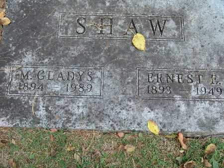 SHAW, M. GLADYS - Warren County, Iowa | M. GLADYS SHAW