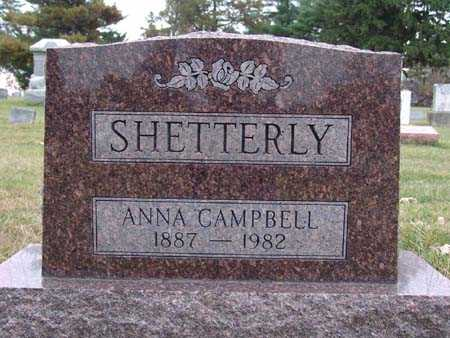 SHETTERLY, ANNA CAMPBELL - Warren County, Iowa | ANNA CAMPBELL SHETTERLY