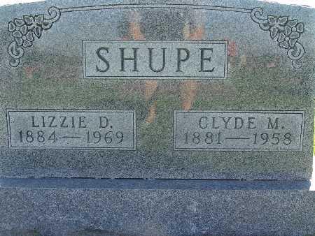 SHUPE, LIZZIE D - Warren County, Iowa | LIZZIE D SHUPE