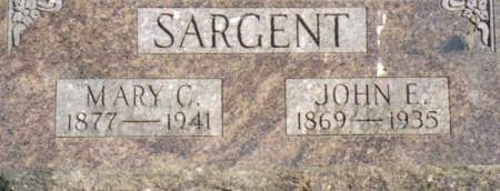 SARGENT, MARY C. - Warren County, Iowa | MARY C. SARGENT