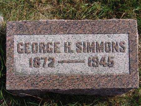SIMMONS, GEORGE H. - Warren County, Iowa   GEORGE H. SIMMONS