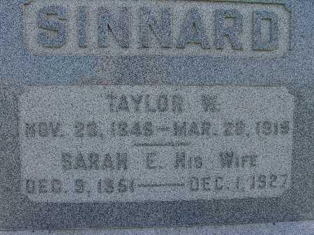 SINNARD, TAYLOR W. - Warren County, Iowa | TAYLOR W. SINNARD