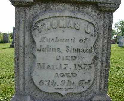 SINNARD, THOMAS J. - Warren County, Iowa | THOMAS J. SINNARD