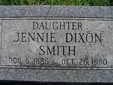 SMITH, JENNIE DIXON - Warren County, Iowa   JENNIE DIXON SMITH